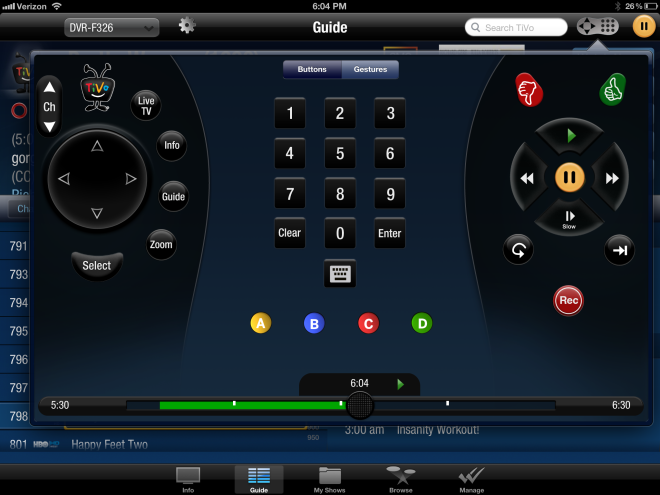 how to watch tivo on ipad