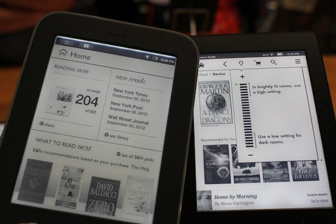 Nook Reader Vs Kindle Reader: Hands On With Amazon's New Kindle E-readers