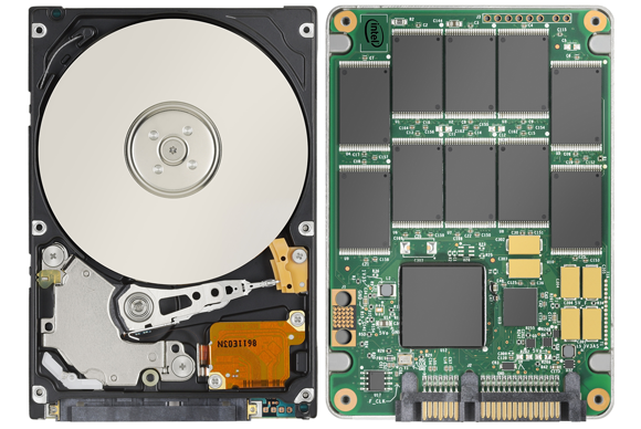 1. Hard Disk Drive vs. Solid State Drive