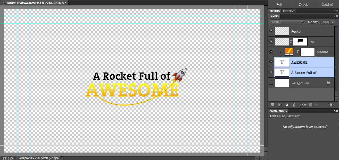 Create imovie titles or watermarks with creative overlays adobe photoshop elements provides guides to help prevent your content from getting cropped buycottarizona Choice Image