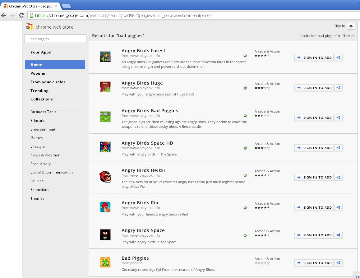 Fake Angry Birds games hijack Google Chrome browser