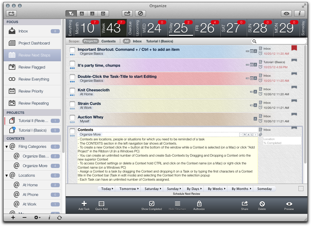 Review: Organize task manager for Mac is deep and complex | Macworld