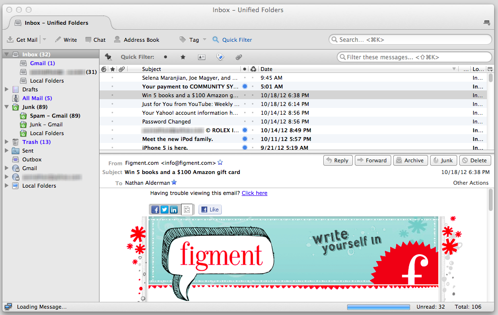 Thunderbird for Mac full screenshot
