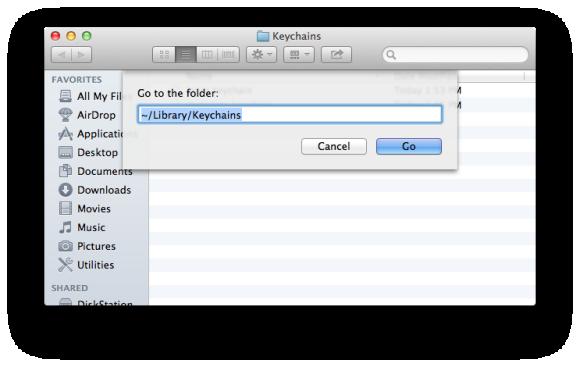 find keychain on macbook air