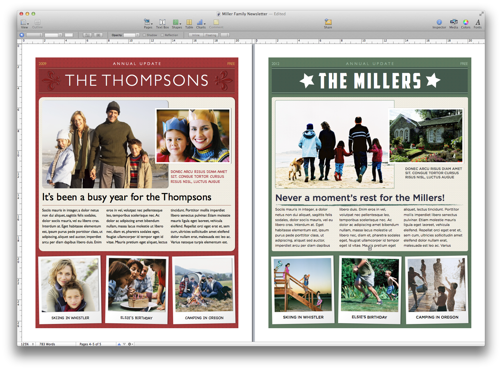 Create a holiday newsletter with pages or iphoto macworld after you get the look you want go ahead and place your own images in the template maxwellsz