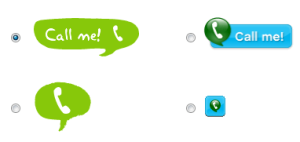 how to change the size of skype call button