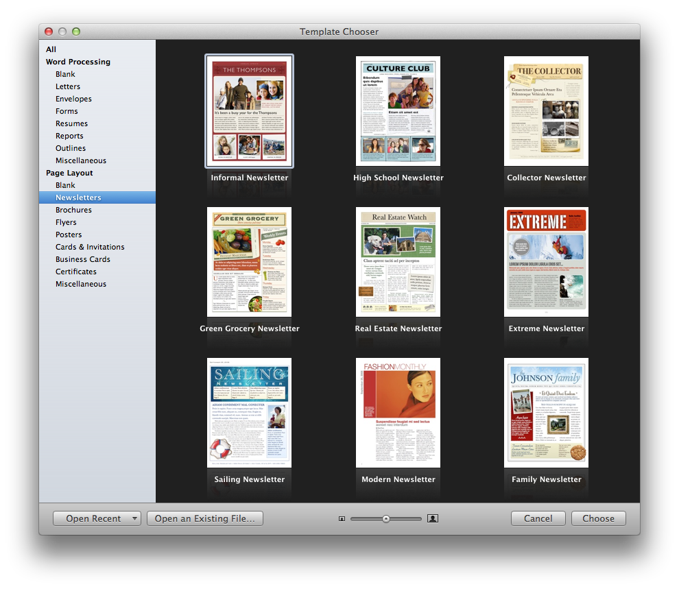 Mac pages templates selowithjo create a holiday newsletter with pages or iphoto macworld wajeb