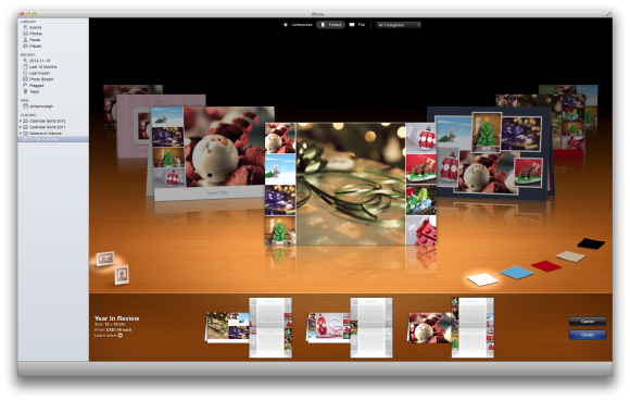 Create a holiday newsletter with pages or iphoto macworld for Iphoto calendar templates