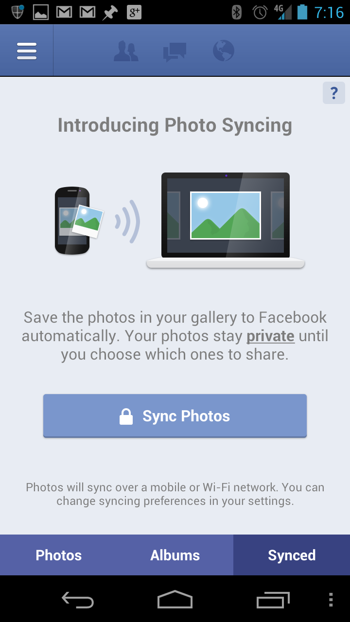 Facebook rolls out photo sync to Android and iPhone users