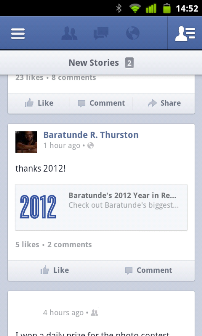 Facebook for Android 2.0