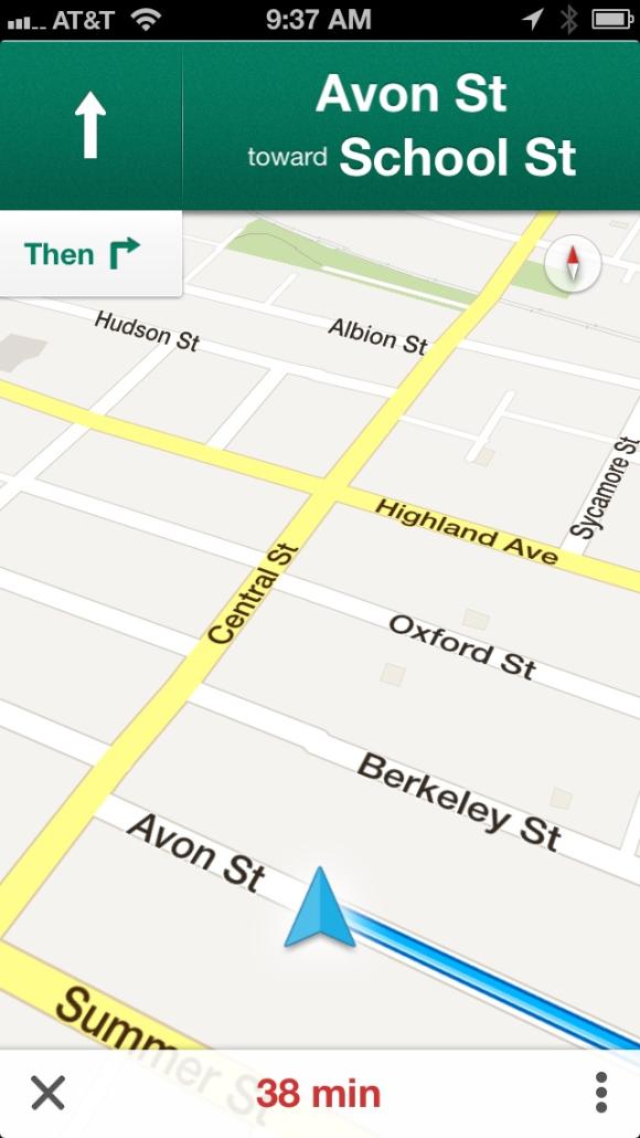 voice instructions google maps