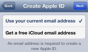 how to create a new icloud email address
