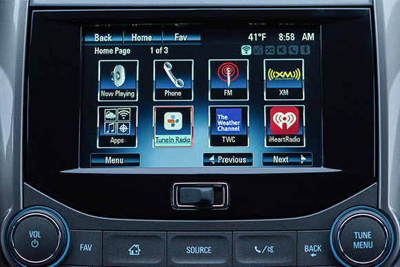 Chevy adds Siri and TuneIn radio integration to its Spark