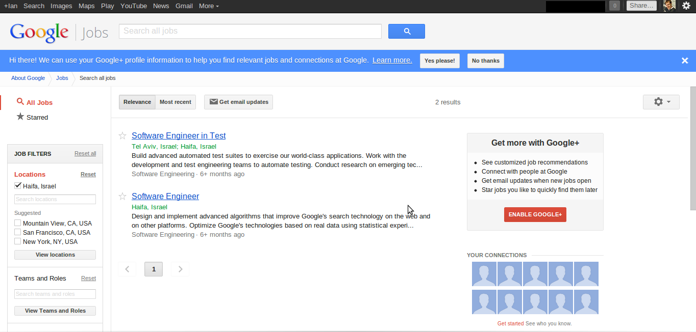 google job board integrates google pcworld when you land on the google jobs search page you see a blue banner at the top of the page asking you to integrate your google account google jobs