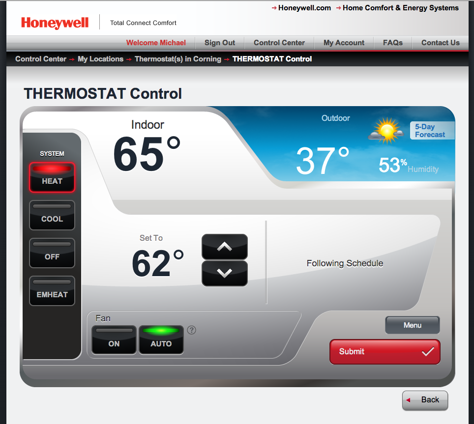 Review Honeywells Model Rth8580wf Programmable Thermostat Delivers Honeywell Rth6350d Wiring Diagram Web Portal Is Attractive And Well Designed