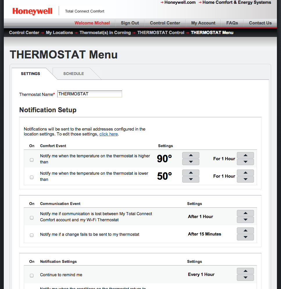 Review Honeywells Model Rth8580wf Programmable Thermostat Delivers Honeywell Vision Pro 8000 Wiring Diagram You Can Direct The Web Portal To Send Email Alerts