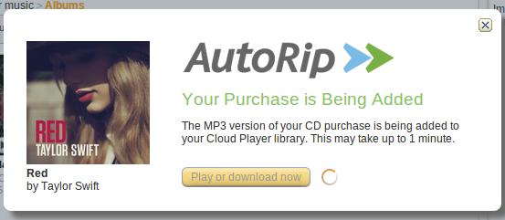 Amazon AutoRip service bundles digital copies with purchased