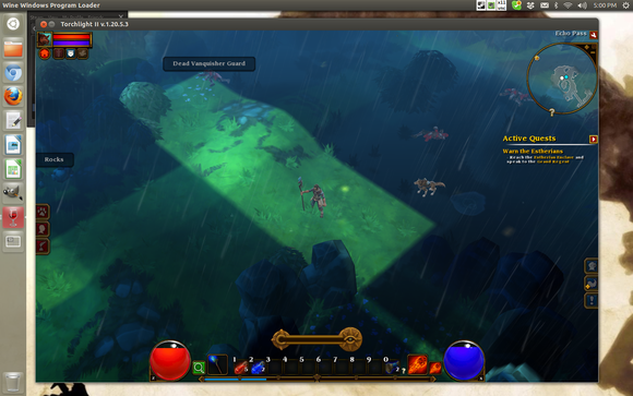 Torchlight 2 runs flawlessly in Wine