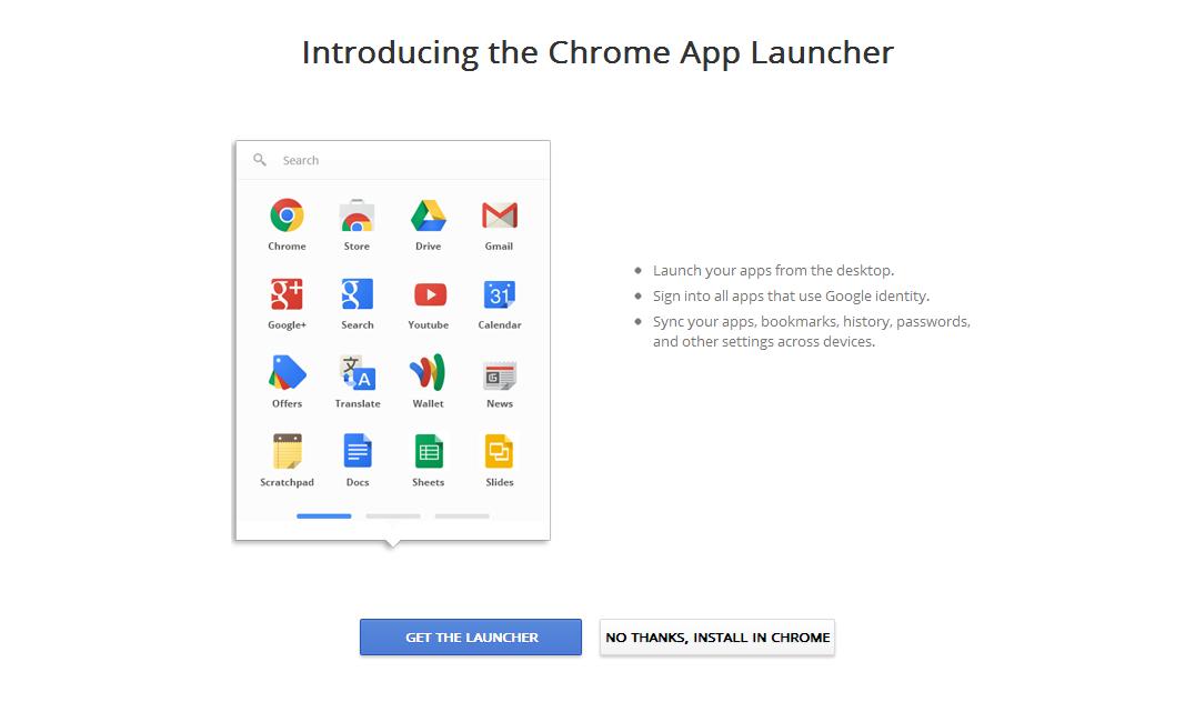 Trai Nghiem Chrome App Tren Windows