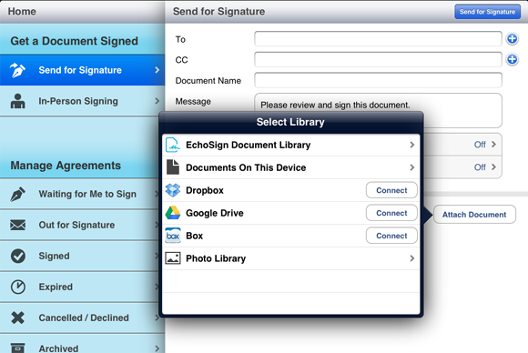 Using Adobe EchoSign Electronic Signatures in SAP ...