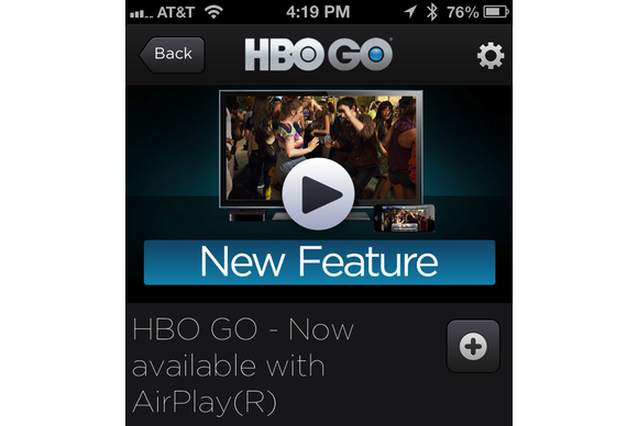 HBO Go, Apple TV and AirPlay