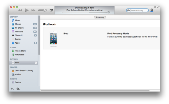 Restoring a very stubborn iPod touch | Macworld
