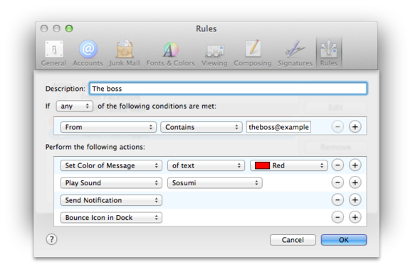 using mac mail smart mailboxes