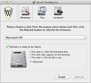Theres Not Much To Do In DiskWarrior Except Choose A Disk And Click Rebuild But That Solves Most Directory Problems