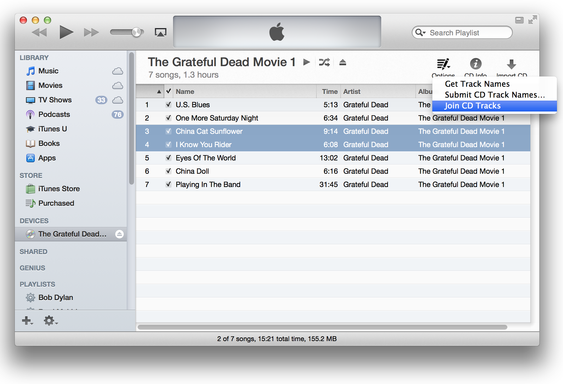 how to change song order in itunes playlist