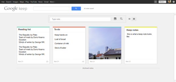 how to access google keep notes on desktop