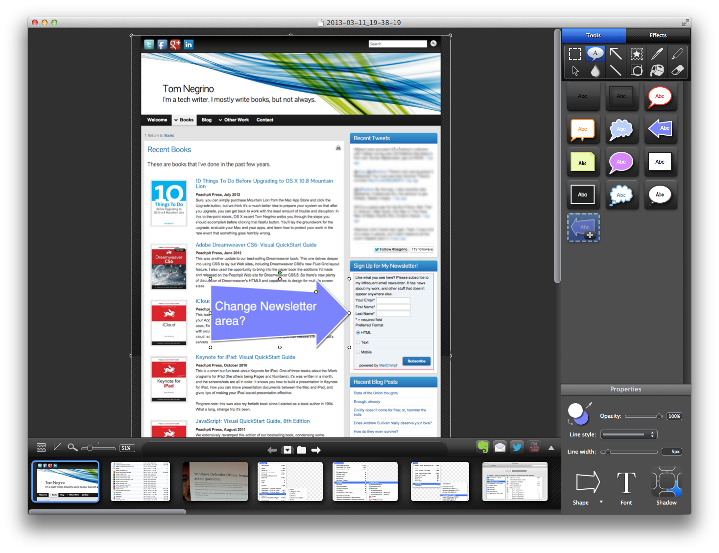 Review snagit should cover all your mac screenshot needs for Image capture