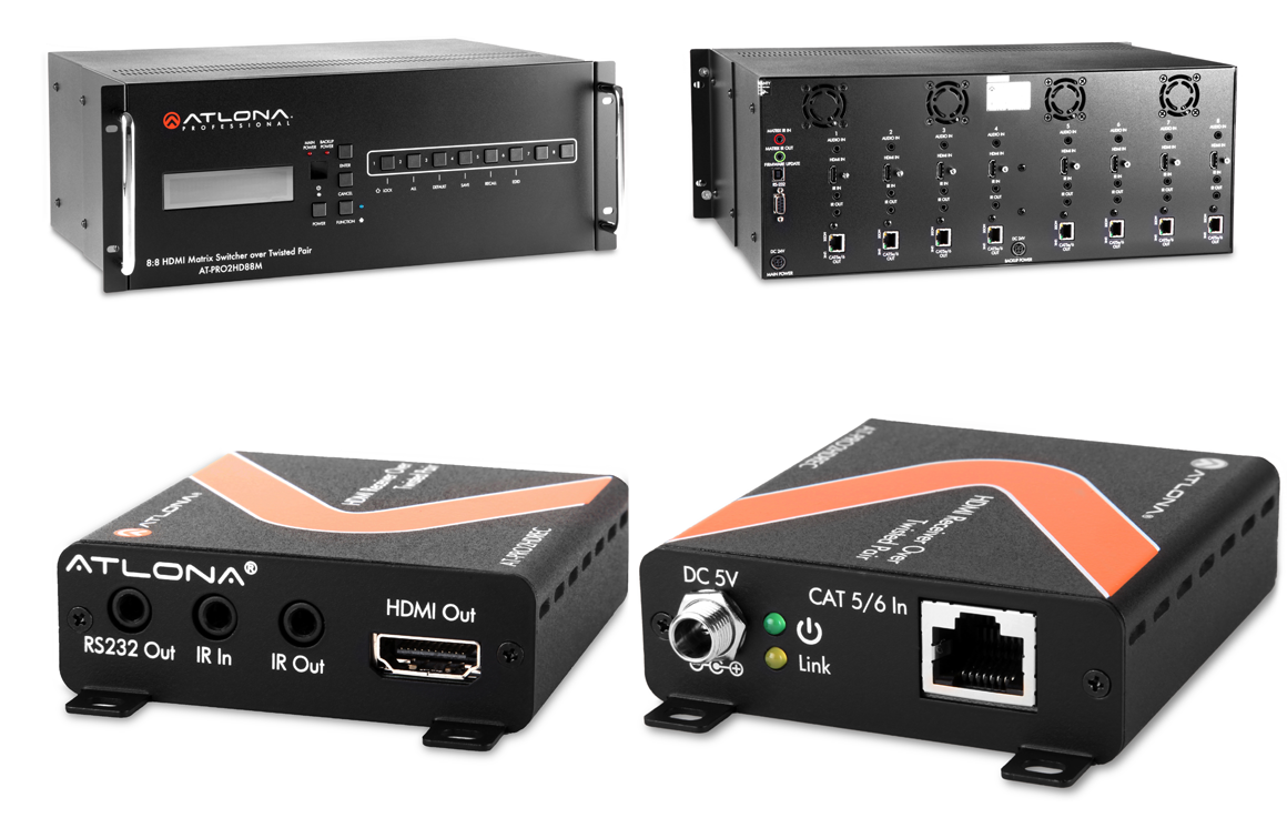 The Next Home Networking Revolution Will Be Wired Pcworld Hdmi House Wiring Atlona Technologies Manufactures An 8 By Matrix Switch And Receivers Based On Hdbaset Standard Front Back Of Each Device Shown Here