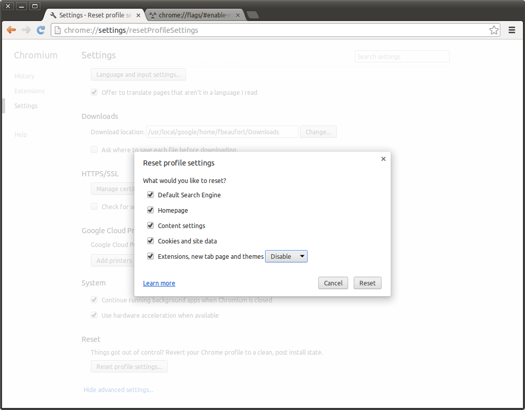 Chromium browser gets new reset options for easier recovery