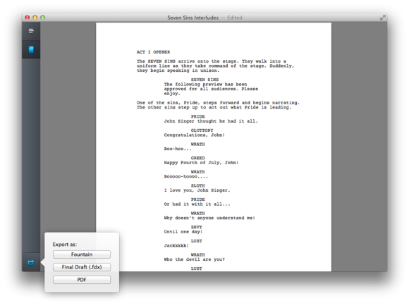 Mac Gems: Highland is a minimalist, wonderful screenplay tool ...