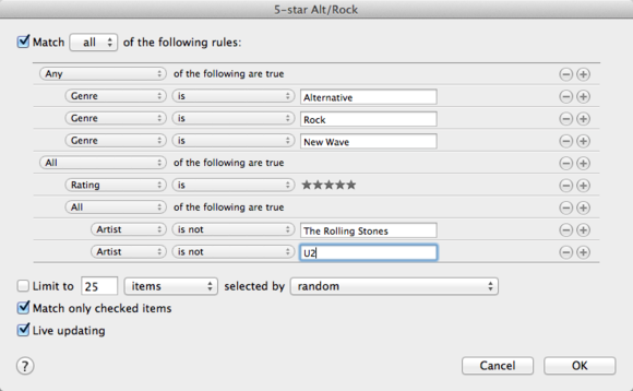 Creating complex smart playlists in iTunes | Macworld