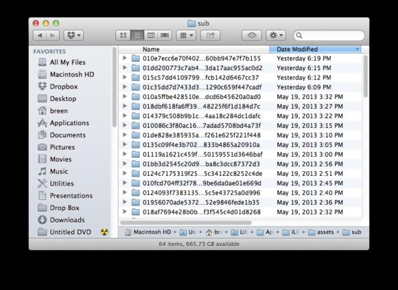 Mac library folder missing