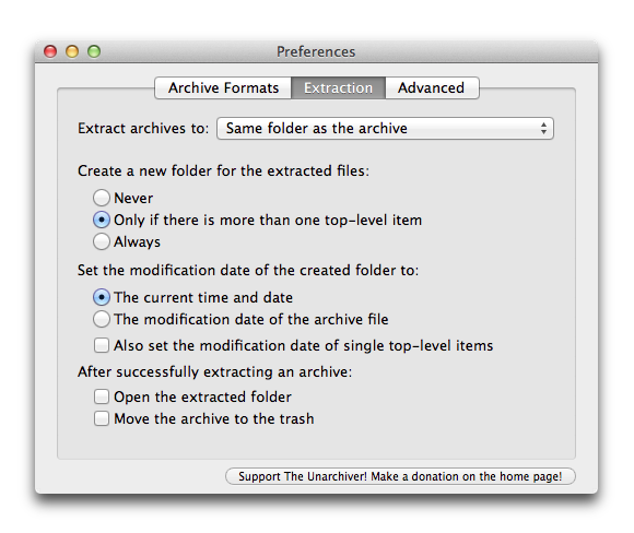Mac Gems: The Unarchiver is a free, robust file-extraction utility