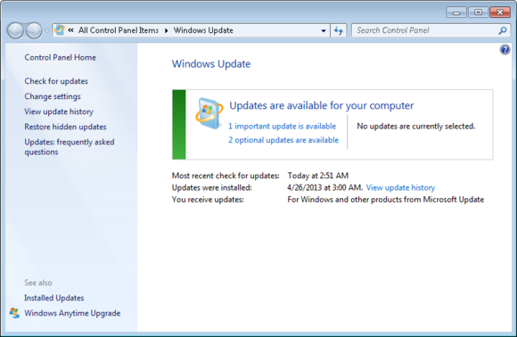 Internet+Explorer+Browser+Update In the Windows Update window that