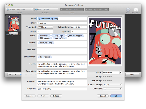 how to change metadata on video files