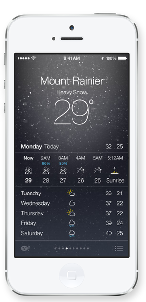 Other weather apps such as the weather channel and forecast io have