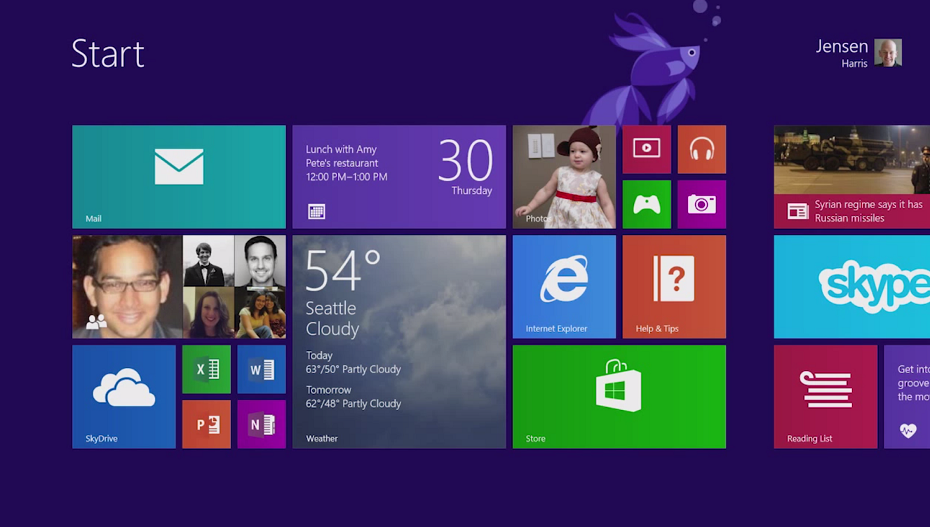 Windows 8 1 video tour puts a friendly face on the start for 1 window