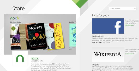Windows 8.1 New Store