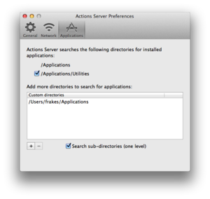 Actions for Mac prefs