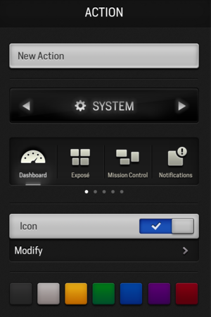 Actions new-action popover