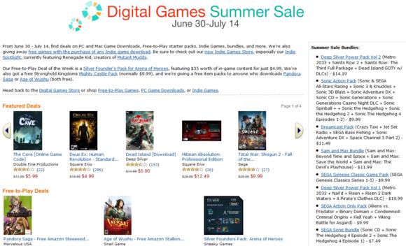 Amazon's sale