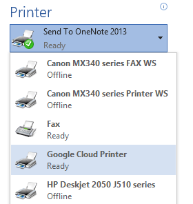 The great printer in the sky: Google Cloud Print comes to