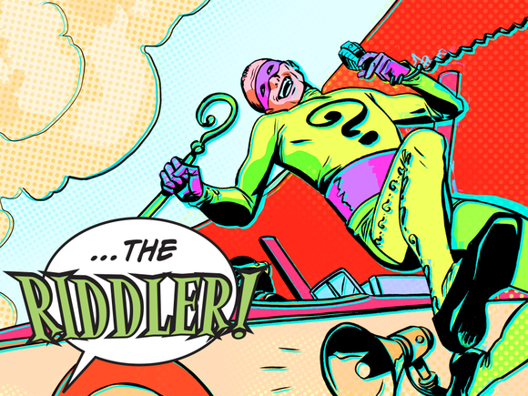 The Riddler in a DC2 interactive comic