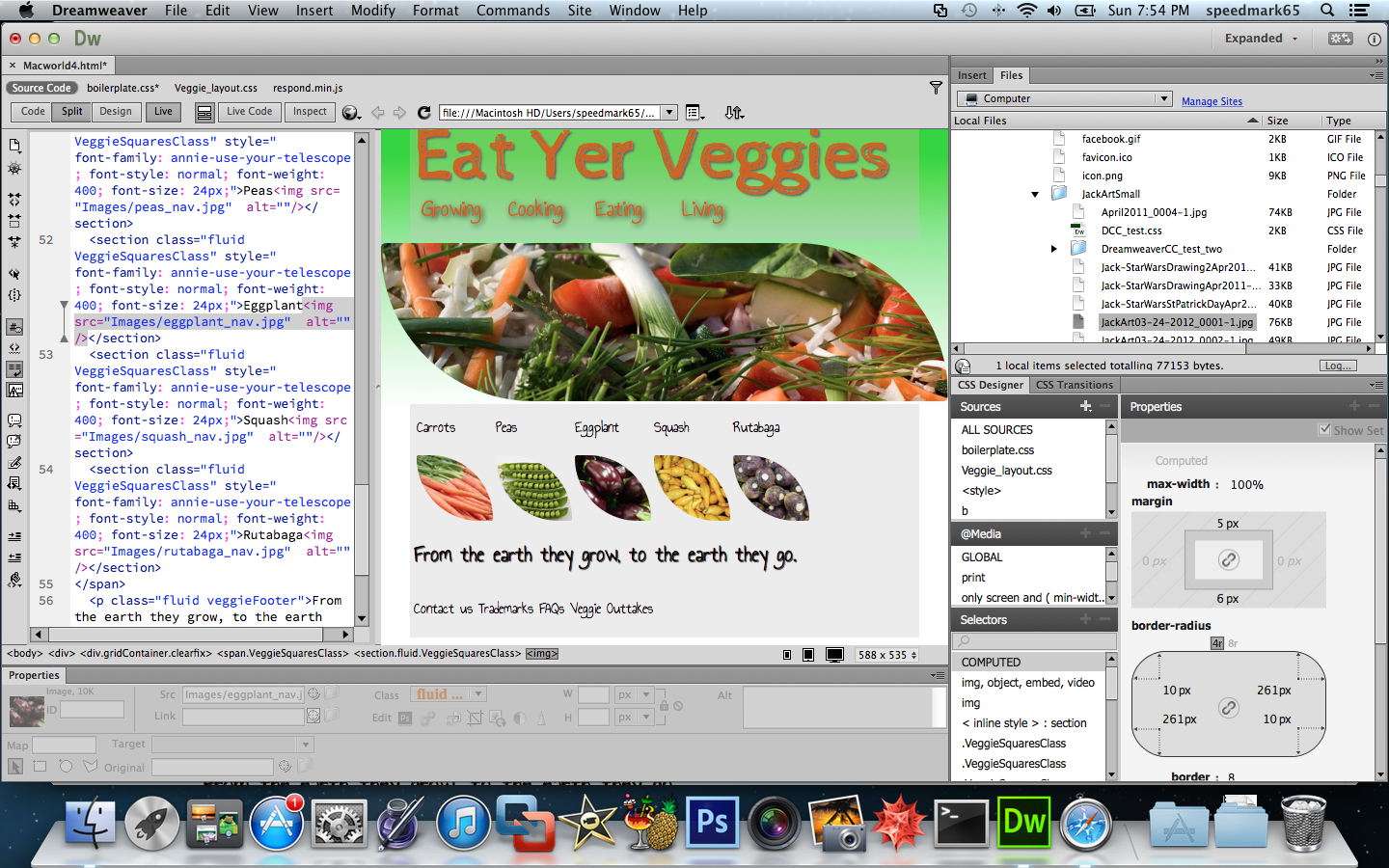Review: Adobe Dreamweaver CC makes CSS more visual, less coder