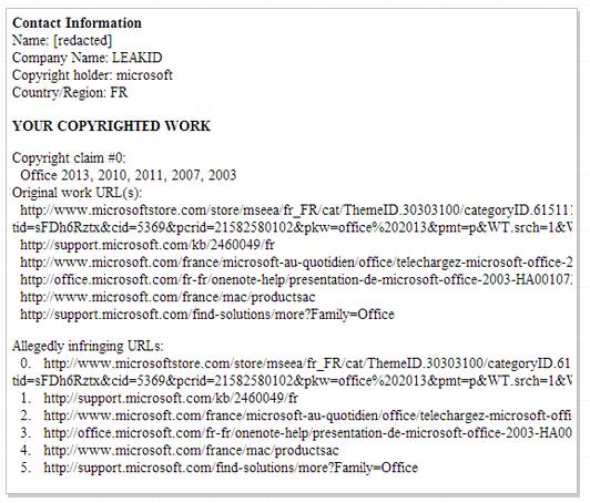 Microsoft accuses Microsoft of copyright infringement, asks