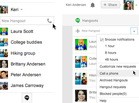Phone calls return to Gmail thanks to a Hangouts upgrade